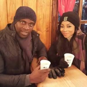 Toke Makinwa And Estranged Husband, Maje Ayida Seen Having Lunch Together (Photo)