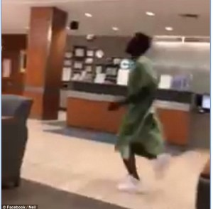 Man Jumps Out Of Hospital Bed, Chases Girlfriend For Taking His Phone (Photos & Video)
