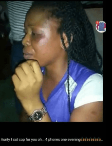 Young Lady Beaten And Disgraced For Stealing 4 Phones In UNIUYO (Photos)