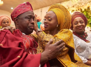 So Touching: Bride Wipes Her Father's Tears As He Cries At Her Wedding (Photos)