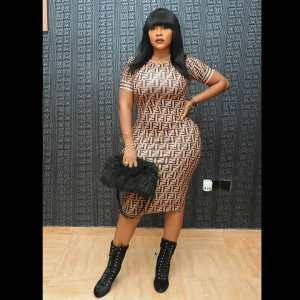 SEXY: Actress, Daniella Okeke shows off her banging body in a tight gown (Photos)