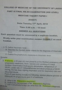 Lecturer Uses Black Panther Theme In UNILAG Final Year Medical Exam Question (Photo)