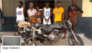 Ghanaian Police arrest robbers along with female colleagues who aid in luring victims (Photo)