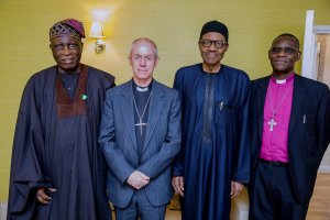 Buhari meets Archbishop of Canterbury and Nigeria's High Commissioner to United Kingdom in London (Photos)