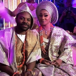 Lovely photos from the traditional wedding of actor Gabriel Afolayan and Adebanke