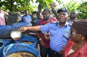 Police Discovers Illegal Brewery That Produces Fake Malt Drink in Lagos (Photos)