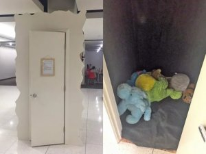 University installs 'cry closet' for stressed-out students (Photo)