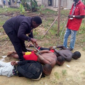 Notorious Cultists Apprehended While Holding Meeting At Their Hideout In Bayelsa (Photos)