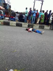 Cultist Gunned Down By Rivals In Front Of Fire Service In Delta State (Graphic Photos)