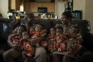 Nigerian couple share new photos of their sextuplet born after 17 years of waiting