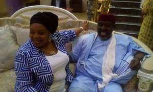 See how Rochas Okorocha welcomed his wife from US (Photos)