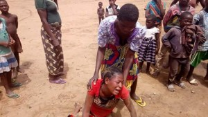 Woman In Tears As Her Only Child Dies At IDP Camp In Benue (Photos)