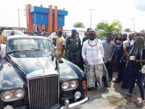 Ayiri Emami Makes Grand Entry With His Bentley At A Wedding In Warri. (Photos)