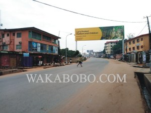 Residents obey Biafra's sit-at-home order in Onitsha, Anambra (Photos)
