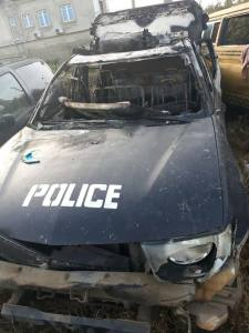 Okada Riders Attack Police Station In Lagos After Death Of Colleague. (Photo)