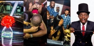 AY reacts to Davido's N45m Porsche car surprise birthday gift to girlfriend Chioma