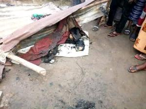 Black Market Fuel Seller, Burnt To Death In Her House In Delta State (Graphic Photos)