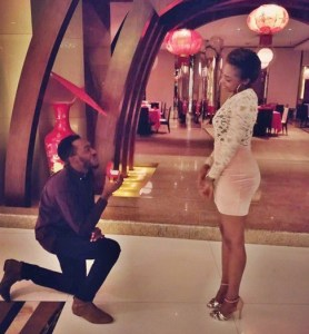 PHOTOS: Former EFCC Twitter handler, F-shaw, proposes to his girlfriend