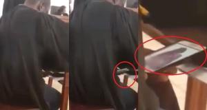VIDEO: See as a Ghanaian judge is watching porn during court session