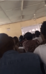 Lecturer publicly flogs Polytechnic student inside the class (Video)