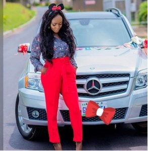 Relationship Blogger,Okoro Blessing Buys A Mercedes Benz For Her 29th Birthday (Photos)