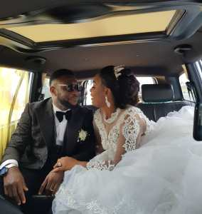 Tchidi Chikere and his wife, Nuella Njubigbo Have Their White Church Wedding  (Photos)