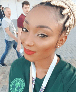 Odion Ighalo's wife replies Nigerians who came to attack her over her husband's wasted chances