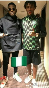 Singer, Kizz Daniel Poses With Alex Iwobi In London (photo)