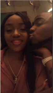 Davido And Chioma Kiss In London, Profess Love For Each Other (Photo)
