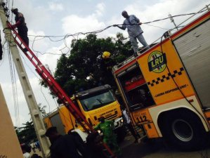 Black Friday In Yaba As Residents Celebrate Eid With A Fire Incident (Photos)