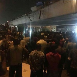 Container Truck Falls From Ojuelegba Bridge, 2 People Confirmed Dead (Photos)