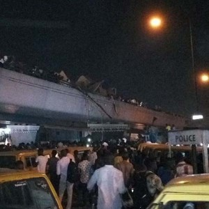 Nigerians React To Container Falling On Cars From Ojuelegba Bridge