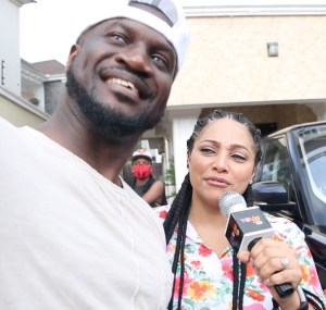 Elated Lola Omotayo-Okoye Reveals Why Peter Okoye Bought Her A Range Rover (VIDEO)