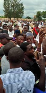 Ahmed Musa Mobbed By Fans At Mosque In Abuja (Photos)