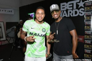 Singer & Hollywood Actor, Rotimi Rocks Super Eagles Jersey at The Pre #BETAwards Event in Los Angeles (Photos)