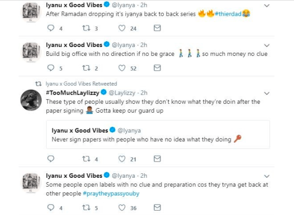 , Iyanya calls out Don Jazzy's Mavin Records as he opens up about his music career in new tweets (See Details), Effiezy - Top Nigerian News & Entertainment Website