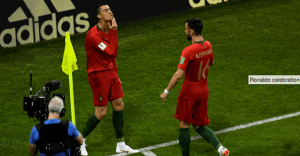 #WorldCup: Why did Ronaldo stroke his chin as he celebrated scoring against Spain?