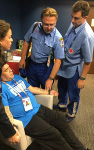 Diego Maradona rushed to the hospital after suffering a medical scare in Argentina's victory over Nigeria (Photos)