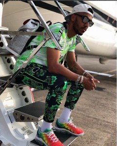 Arsenal star, Aubameyang seen rocking Nigeria's Super Eagles Jersey (Photo)