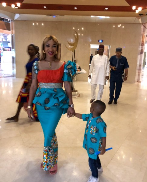 , Actress, Tonto Dikeh And Son Wear Matching Outfit To Church (Photos), Effiezy - Top Nigerian News & Entertainment Website