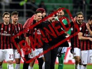 AC Milan Banned From European Football By UEFA