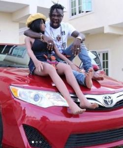 Nigerian Singer, Mr Shaa Shows Off The New Car He Bought For Tonto, His Sex Doll (Photos)