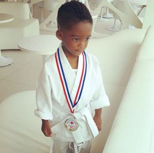 Tiwa Savage's son beats up all the kids in Boxing class (Video)