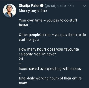 A Kenyan author says money can buy time. See her argument