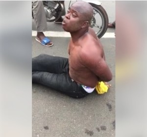 Nigerian Man 'Runs Mad' In Togo Beach, Confesses To Money Rituals. (Photos/Video)