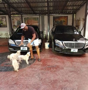 Dino Malaye Poses With His Benz And Puppies (Photo)