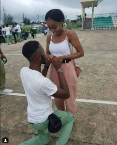 Youth Corper Proposes To His Girlfriend During NYSC Passing Out Parade In Bayelsa (Photos)
