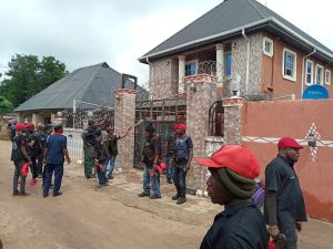 See A Kidnapper's Mansion Before It Was Demolished By SARS In Mgbidi, Imo State (Photos)