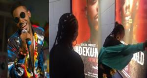 Adekunle Gold's sister in tears after seeing brother on billboards in London (Video)