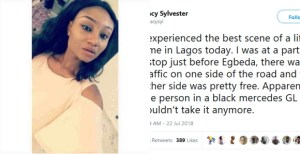 , Lady narrates how Army officers embarrassed a white man and his police escort for driving against traffic in Lagos, Effiezy - Top Nigerian News & Entertainment Website
